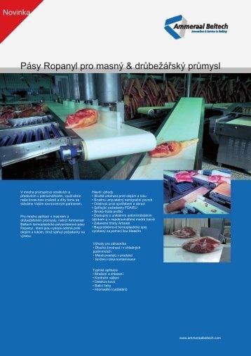 Pásy Ropanyl pro masný & drůbežářský průmysl