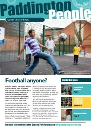 Football anyone? - Paddington Development Trust