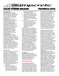 color powder release color powder release technical data technical ...