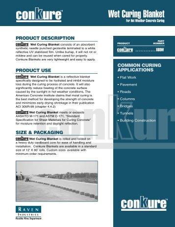 Wet Curing Blanket - Sweeney Materials