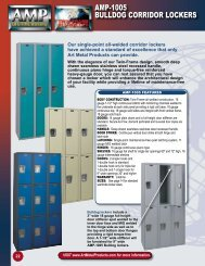 AMP-1005 BuLLDOg CORRIDOR LOCKERS - AMP Art Metal Products