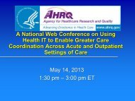 Primary Care Teams - AHRQ National Resource Center; Health ...