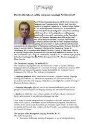 David Little talks about the European Language Portfolio (ELP)