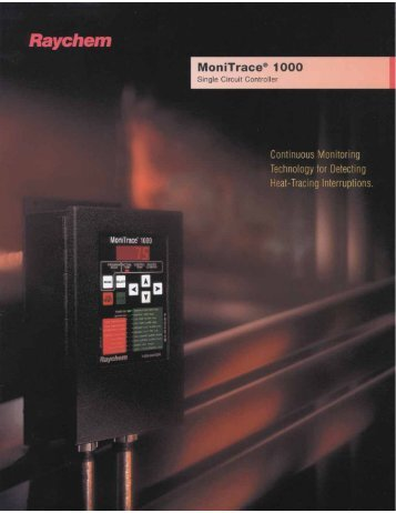 Monitrace 1000 Controller Brochure - INDUSTRIAL HEATER