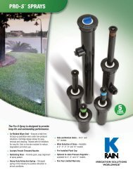 Pro S Sprays Product Specifications - K-Rain