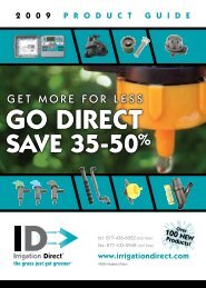 2009 product guide - Irrigation Direct