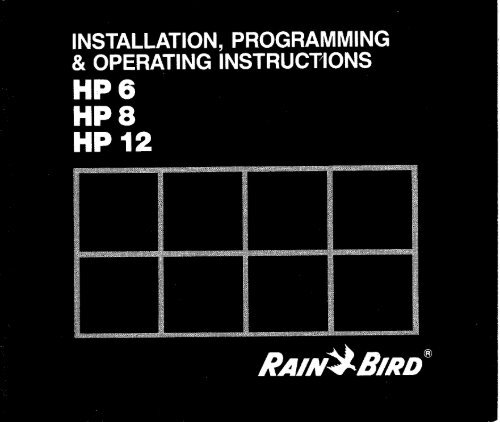 Rain Bird HP Controller Owner's Manual - Irrigation Direct