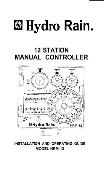 Hydro-Rain RainJet HR-6100 Controller Owner's