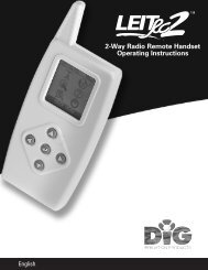 DIG LEITRC2 2 Way Radio Remote Handset - Irrigation Direct