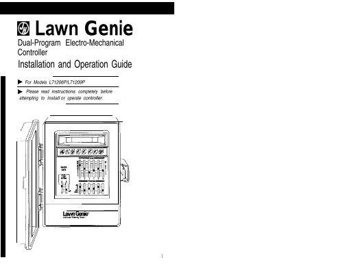 [DIAGRAM_3NM]  Lawn Genie Richdel L71206p-9p Controller ... - Irrigation Direct | Lawn Genie Solenoid Wiring Diagram |  | Yumpu