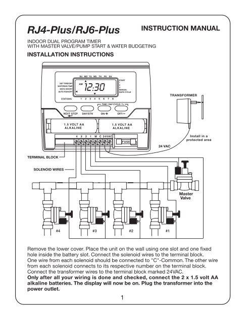 [SCHEMATICS_4UK]  Lawn Genie Richdel Rain-Jet RJ4 Plus RJ6 Plus ... - Irrigation Direct | Lawn Genie Solenoid Wiring Diagram |  | Yumpu