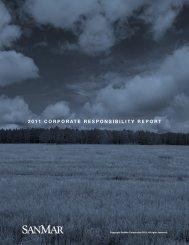 2011 CORPORATE RESPONSIBILITY REPORT - SanMar
