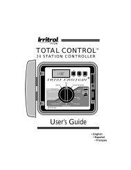 Irritrol Junior Max JR Max Controller Owner's Manual