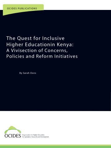 The Quest for Inclusive Higher Educationin Kenya: - ocides