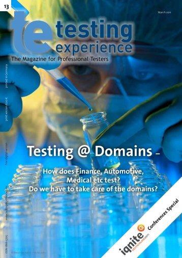 Testing @ Domains, and the winner is - Erik van Veenendaal