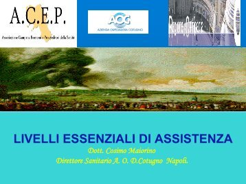 LIVELLI ESSENZIALI DI ASSISTENZA - fareonline.it