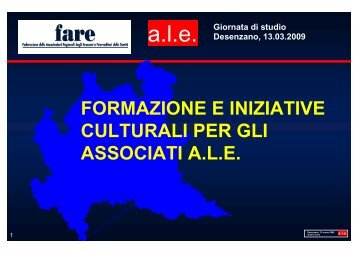 Presentazione Gianni Conti - fareonline.it