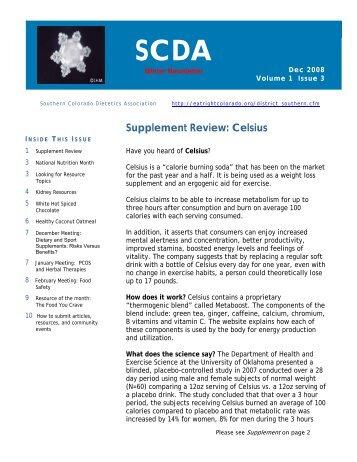 SCDA - Colorado Dietetic Association
