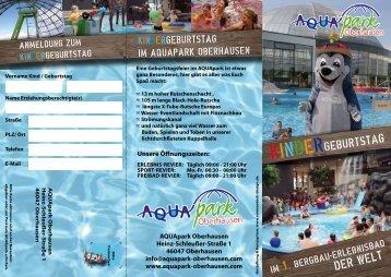 können Sie unseren Flyer laden - AQUApark Oberhausen
