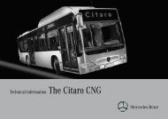 Technical information The Citaro CNG