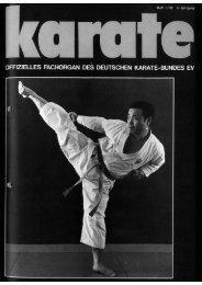 DKB-Fachorgan Nr. 1 - Chronik des deutschen Karateverbandes