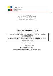 capitolato speciale procedura aperta per la fornitura di presidi ... - Fare