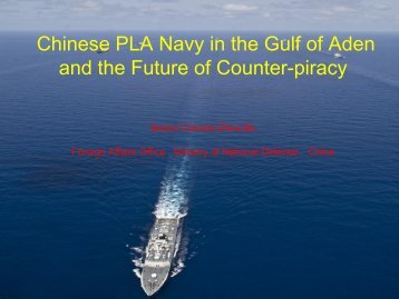 Review of Chinese PLA Navy Escorting