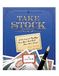 Read a sample chapter of Take Stock - ICLUBcentral