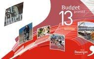 Budget primitif 2013 - Besançon