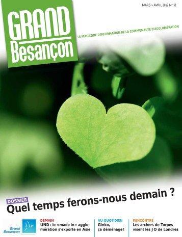 N°51 (mars-avril 2012) : Quel temps ferons-nous demain - Besançon