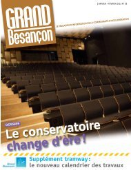 N°56 (janvier-février 2013) : Le conservatoire change d ... - Besançon