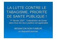 la lutte contre le tabagisme, priorite de sante publique - Besançon