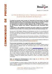 communique de presse - Grand Besançon