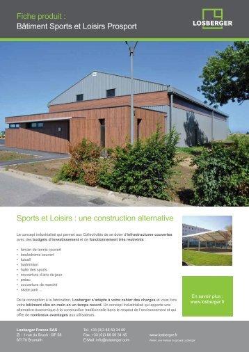 Prosport : idéal pour vos projets sportifs - Losberger France SAS