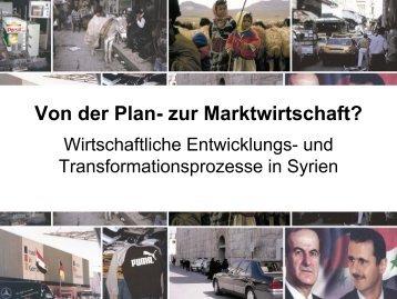Von der Plan- zur Marktwirtschaft? Wirtschaftliche Entwicklungs