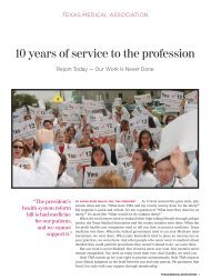 10 years of service to the profession - El Paso County Medical Society