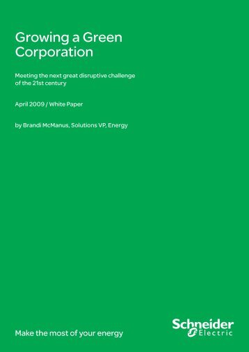 Growing a Green Corporation - Schneider Electric