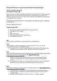 Protokoll der Vollversammlung der dezentralen ...
