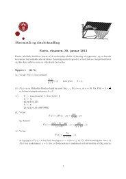 Facits til eksamen, 30. januar 2013