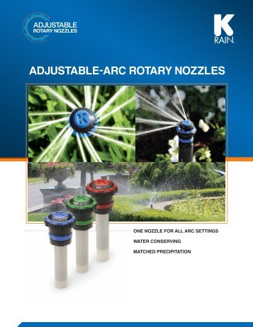 ADJuSTABLe-ARc RoTARy NozzLeS - Midc-Ent.com