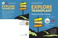 Explore Transplant - Northwest Renal Network