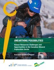 UNEARTHING POSSIBILITIES EXECUTIVE SUMMARY ... - MiHR