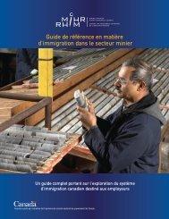 Guide de référence en matière d'immigration dans le secteur ... - MiHR