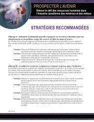 Stratégies recommandées - MiHR