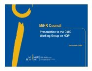 Highly Qualified People Research Project - MiHR