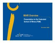 MiHR Overview