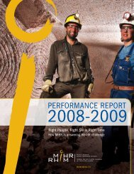 Performance Report 2008-2009 - MiHR