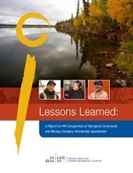 Lessons Learned: A Report on HR Components of ... - MiHR