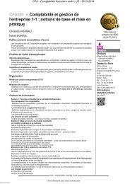 CFA001 - Comptabilité et gestion de l'entreprise 1-1 ... - Cnam