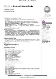 TEC120 - Comptabilité approfondie - Cnam